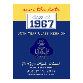 {Ken} Class Reunion Save-the-Date Announcement Postcard