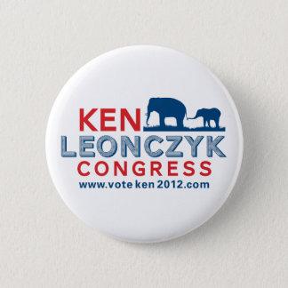 Ken Leonczyk for Congress Button
