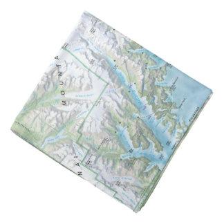Kenai Fjords map bandana