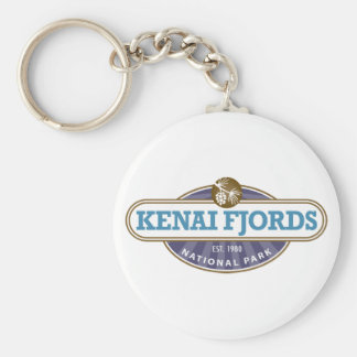 Kenai Fjords National Park Basic Round Button Keychain
