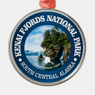 Kenai Fjords NP Metal Ornament