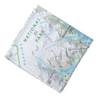 Kenai Fjords Resurrection Bay map bandana