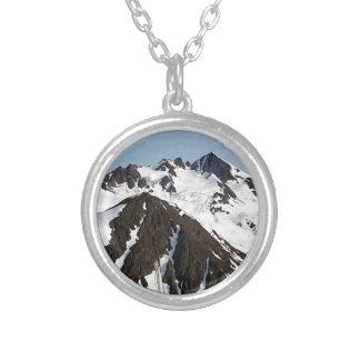 Kenai Mountains, Alaska 3 Silver Plated Necklace