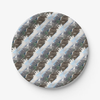 Kenai Mountains, Alaska Paper Plate