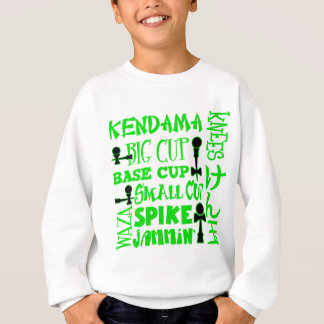 Kendama Block, green Sweatshirt