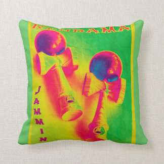 Kendama Jammin' Psychedelic Poster Throw Pillow