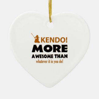 KENDO DESIGN CERAMIC HEART ORNAMENT