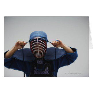 Kendo Fencer Fastening Mask 2 Card