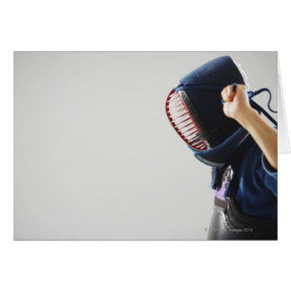 Kendo Fencer Fastening Mask Card
