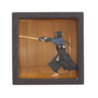 Kendo Fencer Practicing Premium Gift Boxes