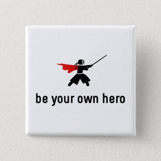 Kendo Hero 2 Inch Square Button