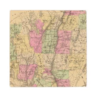 Kennebec County, Maine Wood Coaster