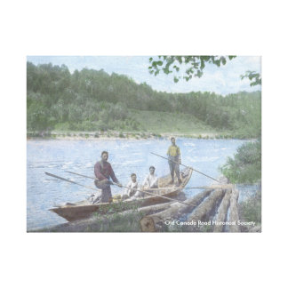Kennebec River Drivers in a Bateau - Canvas