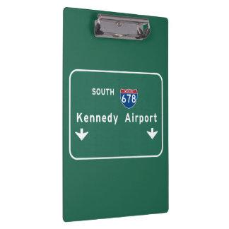 Kennedy Airport JFK I-678 NYC New York City NY Clipboards