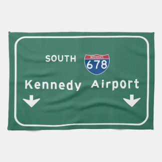 Kennedy Airport JFK I-678 NYC New York City NY Kitchen Towel