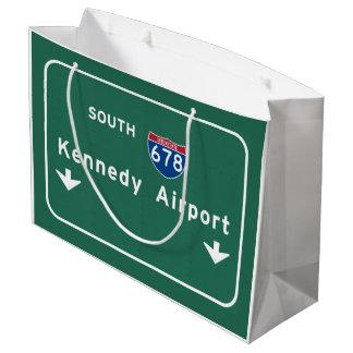 Kennedy Airport JFK I-678 NYC New York City NY Large Gift Bag