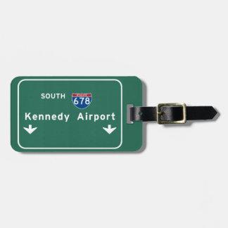 Kennedy Airport JFK I-678 NYC New York City NY Luggage Tag