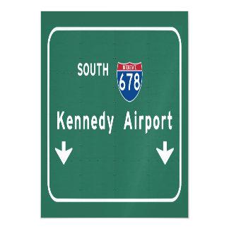 Kennedy Airport JFK I-678 NYC New York City NY Magnetic Invitations