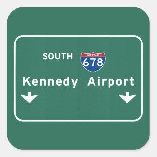 Kennedy Airport JFK I-678 NYC New York City NY Square Sticker