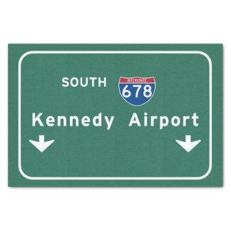 Kennedy Airport JFK I-678 NYC New York City NY Tissue Paper