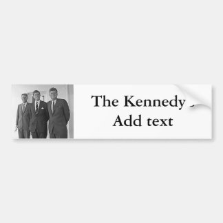 Kennedy Brothers, John, Ted, Robert Bumper Sticker