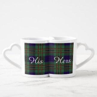 Kennedy clan Plaid Scottish tartan Coffee Mug Set