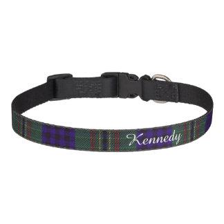 Kennedy clan Plaid Scottish tartan Pet Collar