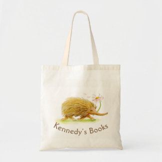 Kennedy Echidna whimsy art name library bag