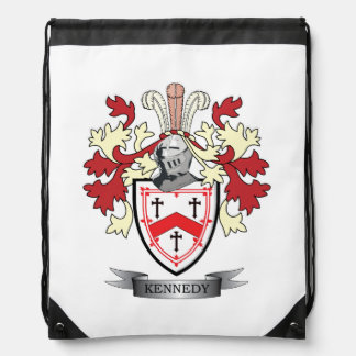 Kennedy Family Crest Coat of Arms Drawstring Bag
