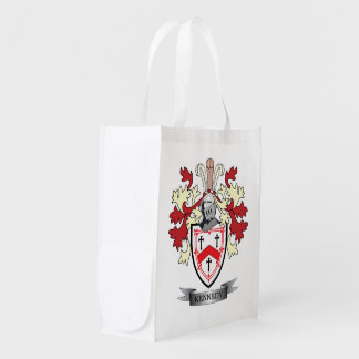 Kennedy Family Crest Coat of Arms Reusable Grocery Bag