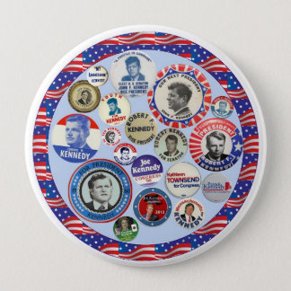 Kennedy Family Dynasty 4 Inch Round Button