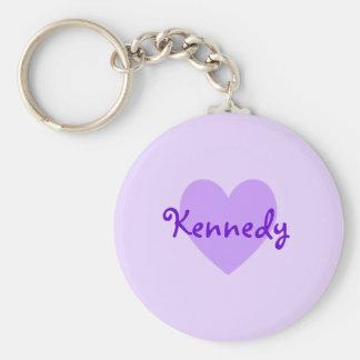 Kennedy in Purple Keychain