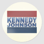 Kennedy Johnson Campaign Classic Round Sticker