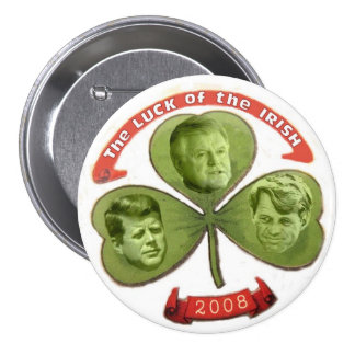 Kennedy Luck o' the Irish Button