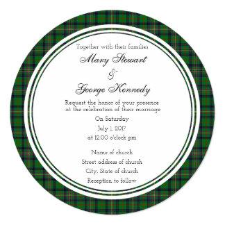 Kennedy Scottish Wedding Round Invitation