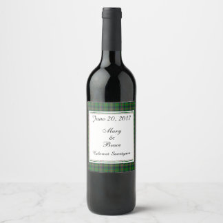 Kennedy Scottish Wedding Wine Label