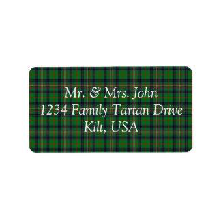 Kennedy Tartan Label