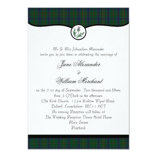 Kennedy Tartan Plaid & Thistle Wedding Invitations