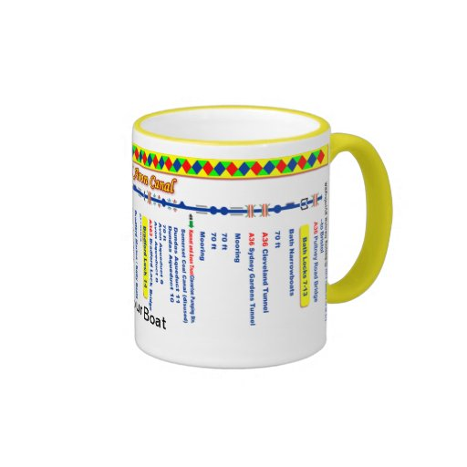 Kennet and Avon Canal Route Map (2 of 4) Mug