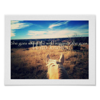Kenny Chesney Country Western Cowgirl Horse Poster