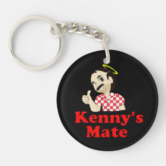 Kenny's Mate Sarcoma Research Support Keyring Double-Sided Round Acrylic Keychain