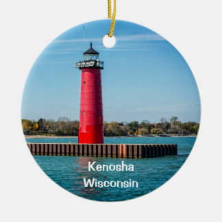 Kenosha Ceramic Ornament