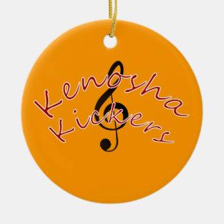 Kenosha Kickers Ceramic Ornament
