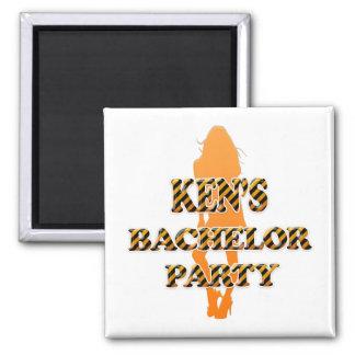 Ken's Bachelor Party Square Magnet