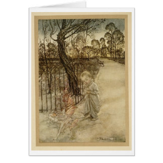 Kensington Gardens Walk (Blank Inside) Card