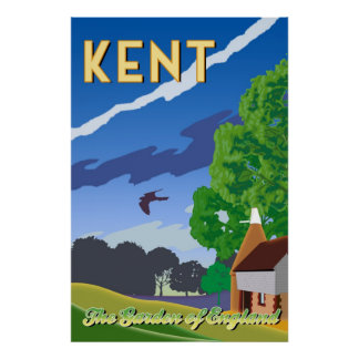 Kent - The Garden of England Poster