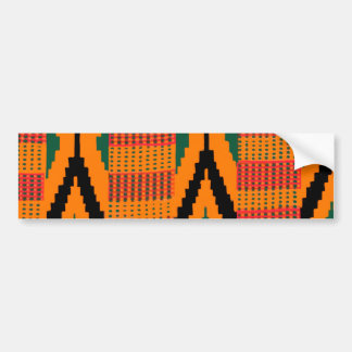 Kente Pattern Bumper Sticker