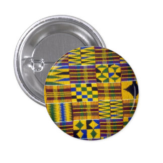 kente rhapsody 1 inch round button