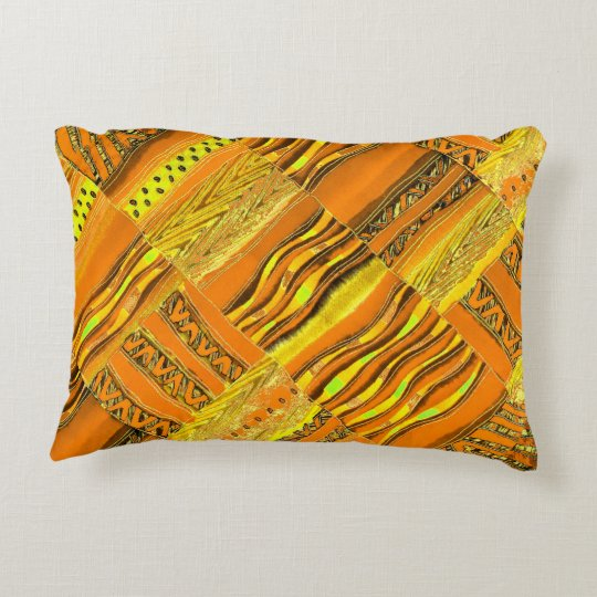 Kente Yellow Decorative Pillow