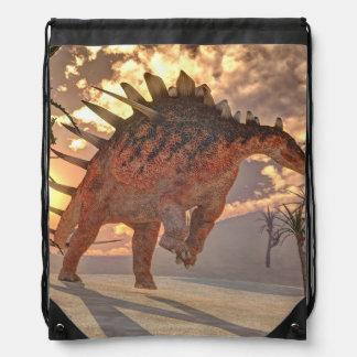 Kentrosaurus dinosaur - 3D render Drawstring Bag